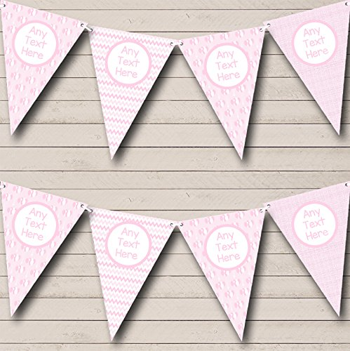 Roze Ballonnen Chevrons Meisje Pretty Welkom Thuis Nieuwe Baby Bunting Party Banner Decoratie Garland Large