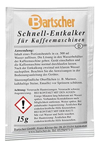 Bartscher Schnell-Entkalker für Kaffeemaschinen 15 x 15g