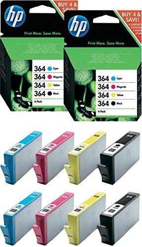 HP 364 4-pack zwart/cyaan/magenta/geel originele inktcartridges / X2