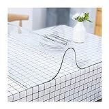 TMGJ PVC Mantel Transparente Rectangular,Suave Impermeable Resistente Al Aceite Resistente Altas Temperaturas,Soporte De PersonalizacióN,Se Puede Utilizar Comedor Y Sala(Color:1.5mm,Size: 80x250cm)