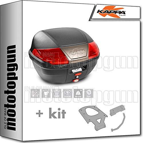 kappa maleta k400n 40 lt + portaequipaje monolock compatible con yamaha xenter 125 150 2020 20
