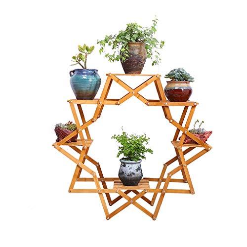 Kruidenrekken creatief Nan bamboe-binnenwoonkamer-bloemen-onderstel-vast houten rek bloemenwinkel vleesachtige bodem meerlaags bloemenrek buitenbalkonvouwen lostgaming