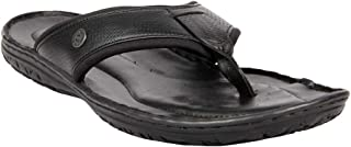 Franco Leone Men's Black Slippers