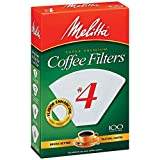 Melitta 624102 #4 White Coffee Filters 100 Count