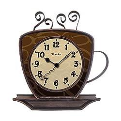 Westclox Quartz Wall Clock 9.5 Brown Quartz Movement Glass