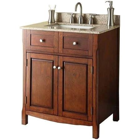 Pegasus 30 In W X 34 1 4 In H X 21 In D Vanity Cabinet Only In Dark Cherry Bathroom Vanities Amazon Com