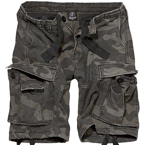 Brandit Herren Vintage Basic Shorts, Dunkles Camouflage, S