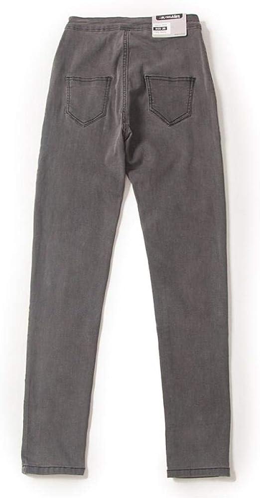 Automne Hiver Jean régulier Femme Crayon Pantalon Mode Femmes Poches Pantalon Haute Jeans décontractés pour Femmes A