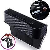 Zeyaa Upgrade Car Seat Gap Storage Organizer, Passenger Side Multifunctional Car Seat Gap Filler Seat Console Side Pockets Storage for Cup Holder/Cellphones/Keys/Cards/Wallets/Sunglasses.