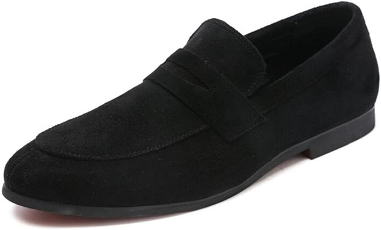 XIUWU Men's Suede Loafers Shoes Prom Evening Dress Shoe Driving Flats