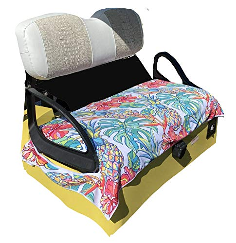Golf Cart Seat Cover | EZGO Seat Cover | Summer Golf Cart Seat Towel | Stay Cool, Clean & Dry | Fun & Vibrant Designs | Machine Washable | Protect Your Seat Seat Cover | Tropical Fruit
