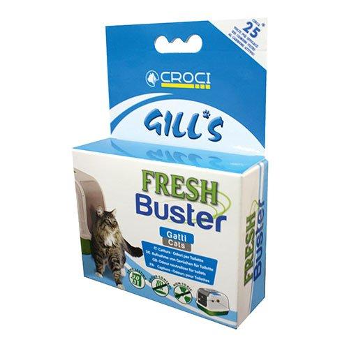 Croci Fresh Buster, litière pour Chat Anti-Odeur, filtres adhésifs pour litière pour Chat Anti Malodor, absorbeur d'odeurs Naturelles, durée 1 Mois