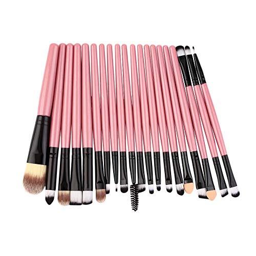 Pinceaux - Pinceaux professionnels 20 pièces pack pinceaux de maquillage complet Kit Kit usage personnel professionnel ou occasionnel - Rose