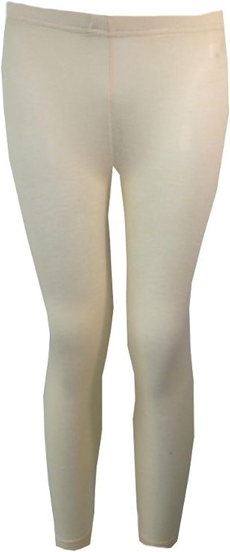 Colours Girls Kids Childrens Plain Cotton Full Length Leggings Age 2-13 Black
