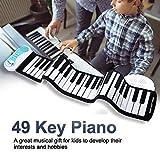 LukameFlexible Enroulé Électronique Doux Clavier Piano Portable 49 Touches Cadeau pour Les Enfants