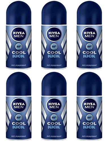 Nivea Lot de 6 déodorants pour corps Men Cool KICK Désodorisant pour homme.