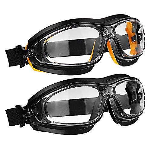 Gafas de Seguridad Gafas De Protección - Polvo De Choque Del Viento Resistente A Los Ácidos Aerosoles Químicos Salpicaduras De Pintura Anteojos De Protección En El Trabajo Protección Anti Niebla y Pro