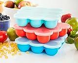 UMIGAL Babybrei Aufbewahrung zum Einfrieren von Babynahrung und als Behälter für Beikost BPA-frei & FDA zugelassen (Blue)