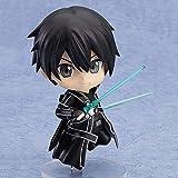 Sword Art Online Sao Kirigaya Kazuto Kirigaya Kazuto Kirito Kirito Black Swordsman Q PVC Versión de PVC Material Anime Figura Modelo Juguetes en Caja de Regalo