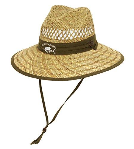 Guy Harvey Mens Sailfish Straw Fishing Hat One Size Green