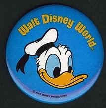 Walt Disney World Donald Duck pinback button 1981