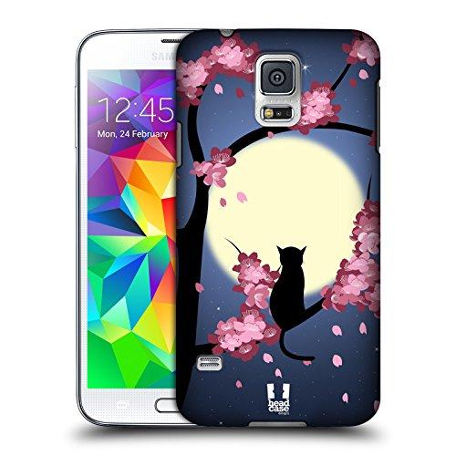 Head Case Designs Gatto Boccioli da Sogno Cover Dura per Parte Posteriore Compatibile con Samsung Galaxy S5 / S5 Neo