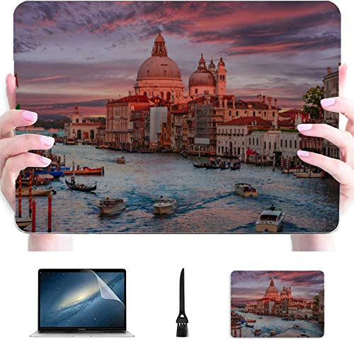 MacBook Accessories Famous Canal and Bridge at Sunset Plastic Hard Shell Compatible Mac Air 13' Pro 13'/16' MacBook Pro Retina Case Protective Cover for MacBook 2016-2020 Version