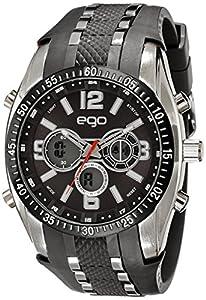 Ego by Maxima Analog-Digital Black Dial Unisex Watch - E-33110PPAN