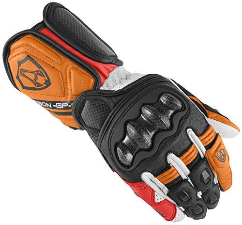 Arlen Ness RG-X Motorradhandschuhe Schwarz/Weiß/Orange M
