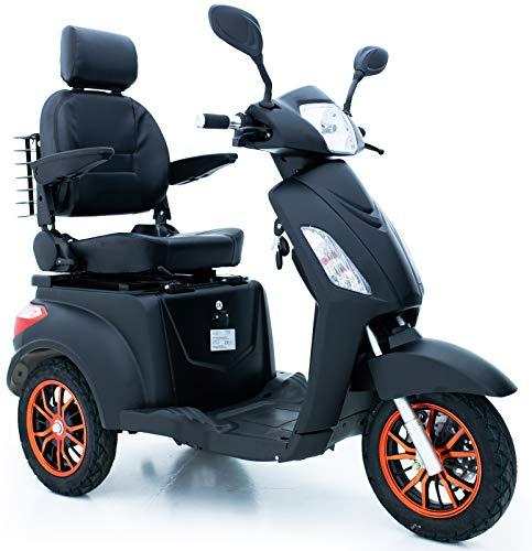 Green Power - Patinete de movilidad eléctrica con 3 ruedas, color negro...