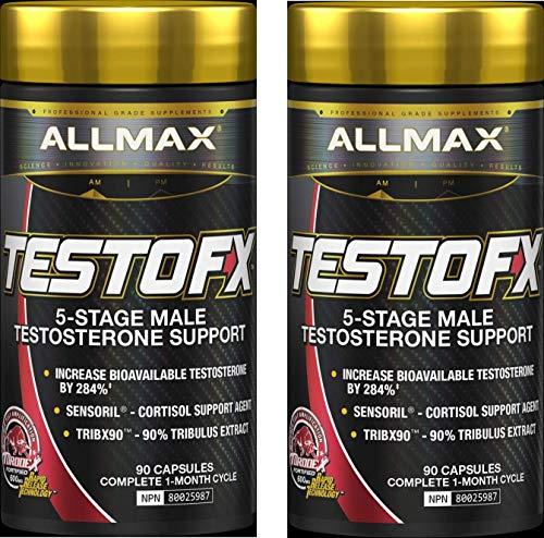 ALLMAX TESTOFX, 5-Stage Male Testosterone Amplifier, 90 Capsules (2 Bottles), 60 Day Supply