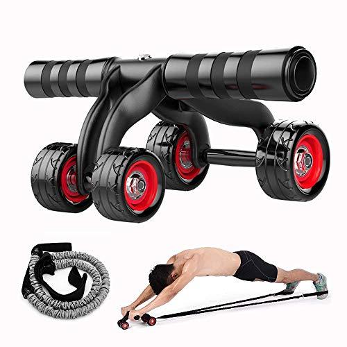 ZY Roller-Rad for Abs Workout, Pushup-Rad-Trainingsgeräte Bauchtrainer mit Widerstand Seil for Hauptgymnastik, Maschine for Bauchmuskeltraining LOLDF1