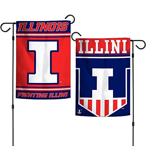 "Elite Fan Shop Illinois Fighting Illini Garden Flag 12.5""x18"" - Orange"
