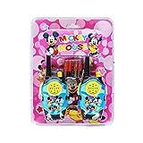 Careflection Mickey Mouse Long Range Fun Walkie Talkie Toy Gift for Kids Set