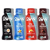 OWYN 100% Plant-Based Vegan Allergen-Friendly Protein Shake - 4 Flavor Variety Pack - 12 oz Bottles (Pack of 12)