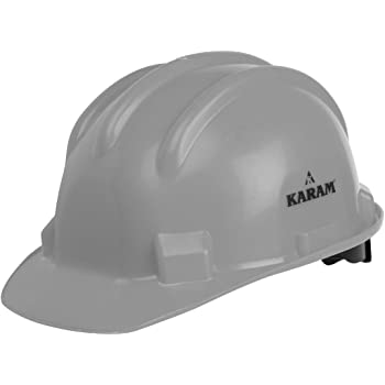 Karam ISI marked Safety Helmet Ratchet Type with Plastic Cradle (Grey) PN521