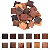 PandaHall Ringe Holzrohlinge, 24 Pack 12 Styles Holzstücke Für Holzschmuckring Herstellung von Holzringmaterialien Mit Verschiedenen Natürlichen Holzstrukturen