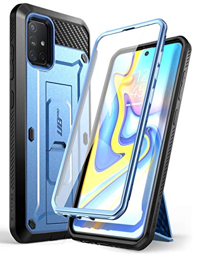 SUPCASE Unicorn Beetle Pro Series Designed for Samsung Galaxy A71 5G Case[Not for A71 5G UW Verizon], Full-Body Rugged Holster & Kickstand Case with Built-in Screen Protector (Slate Blue)