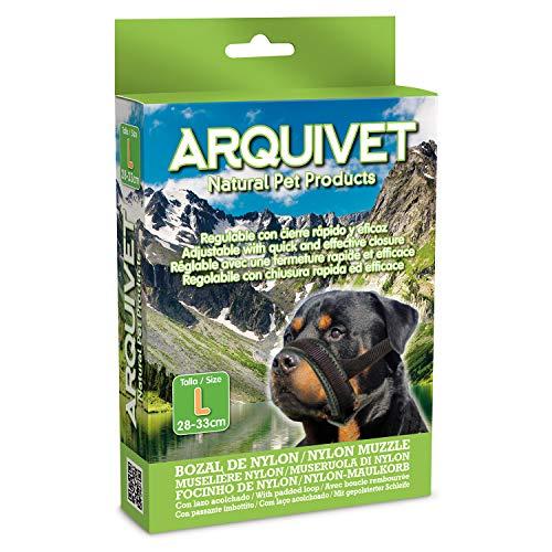Arquivet Bozal para Perros Nylon con Lazo Acolchado - L