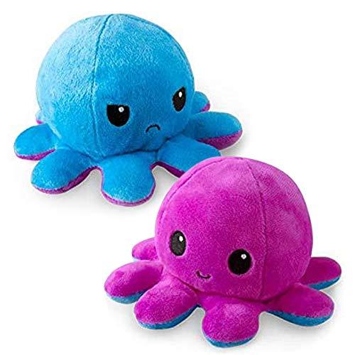 COOTA Peluche de Pulpo Reversible muñeco Vibrante de Doble Cara Bonitos Juguetes de Peluche Bonitos Juguetes de Peluche para Niños 1 Pack