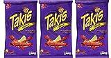 BARCEL Takis Fuego - Tortilla Chips - Papitas de Maíz Sabor Chile y Limón, 65g