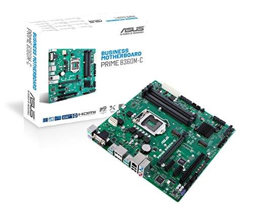 Asus Prime B360M-C Business Mainboard (Sockel 1151, mATX, Intel B360, DDR4 Speicher, M.2, 6x SATA 6Gb/s, USB 3.1 Gen 2)