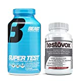 Beast Super Test and Testovox: Advanced Testosterone Booster Bundle   Powerful Test Booster and Muscle Growth Supplements   Natural Muscle Builder and Estrogen Blocker to Enhance Performance