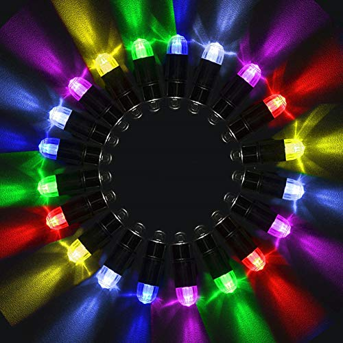 Magnoloran Led Balloon Lights, 20 Pack Multicolor LED Mini Submersible Waterproof Blinking Party Lights for Paper Lantern Balloon Wedding Halloween Christmas Party Decoration Centerpieces