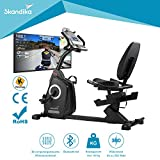 skandika Liege Ergometer Recumbent Bike Veien RB550 mit Video Events und Multiplayer App,...