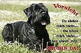 +++ SCHNAUZER Riesenschnauzer - Metall WARNSCHILD Schild Hundeschild Sign - SNZ 08 T2
