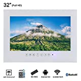 Soulaca 32' White Color Waterproof Smart Bathroom Big Screen Android White LED TV