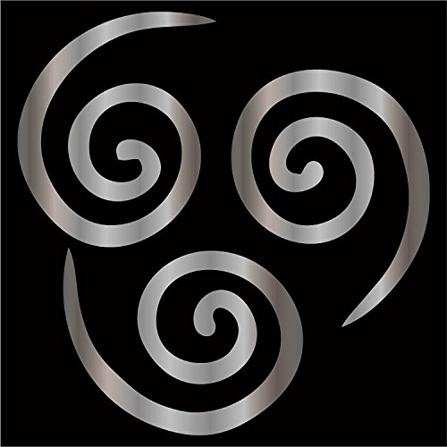 "Cove Signs Air Nomad Decal/Sticker - Silver 4""- Aang, The Last Air Bender, Avatar"
