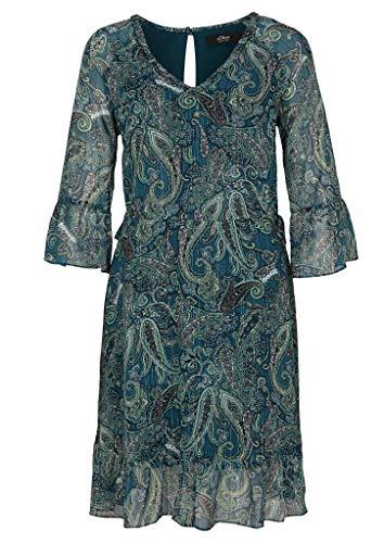 s.Oliver BLACK LABEL Damen Kleid kurz dark green paisley 42