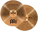 """Meinl 14"""" Medium Hihat (Hi Hat) Cymbal Pair - Classics Traditional - Made in Germany, 2-YEAR WARRANTY (C14MH)"""